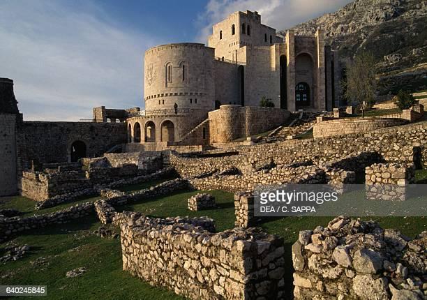 Skanderbeg museum inside the citadel, castle of George Kastrioti Skanderbeg, Kruje, Albania.
