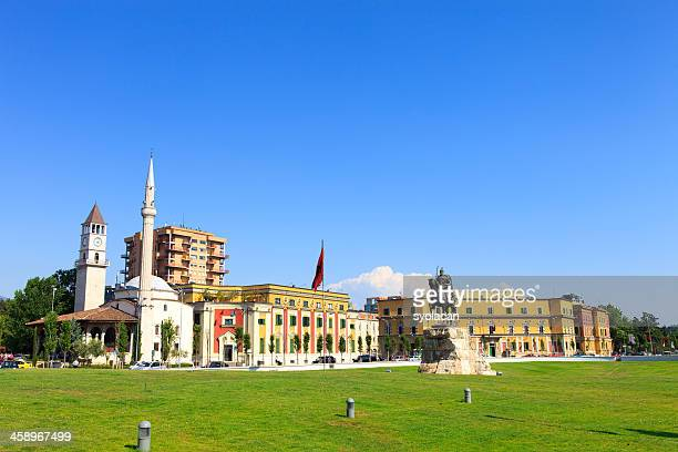 skanderbeg square - syolacan stock pictures, royalty-free photos & images
