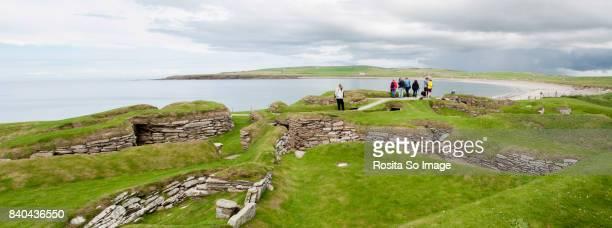 skara brae, mainland, orkney islands, scotland - skara brae stock photos and pictures