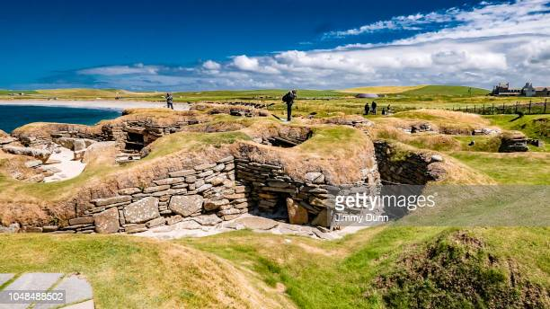 skara brae orkney islands - skara brae stock photos and pictures