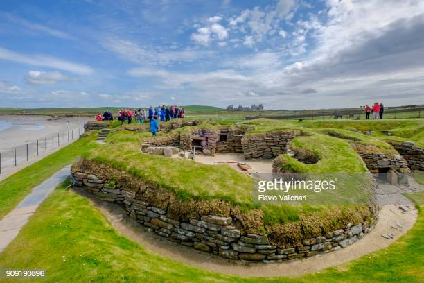 skara brae, orkney islands, scotland - skara brae stock photos and pictures