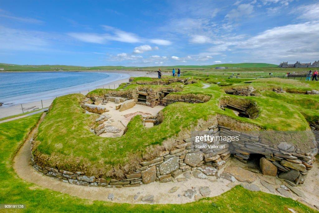 Skara Brae, Orkney Islands, Scotland : Stock Photo