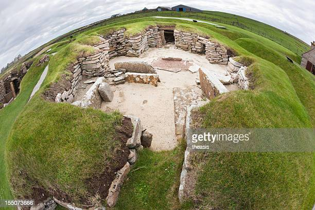 skara brae, orkney - stone age stock photos and pictures