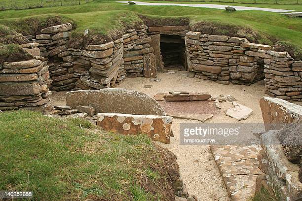 skara brae - stone age stock photos and pictures