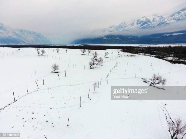 Skardu in Snow, Pakistan