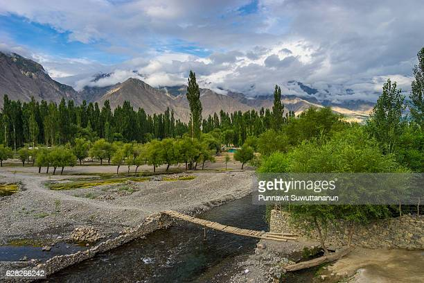 skardu village in summer, gilgit, pakistan - skardu stock pictures, royalty-free photos & images