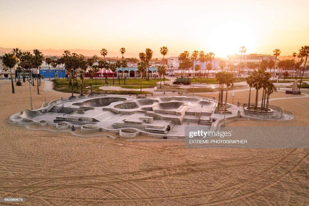 Skate Park in Venice Beach : Stock Photo