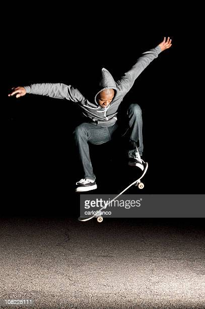 skate trick - ollie pictures stock pictures, royalty-free photos & images