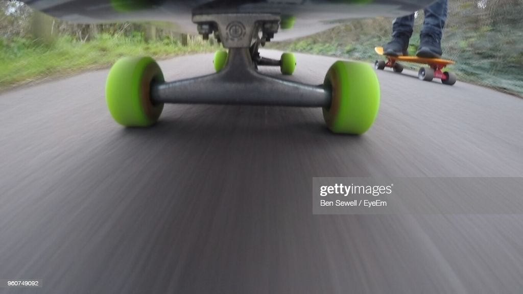 Skateboard Moving On Road