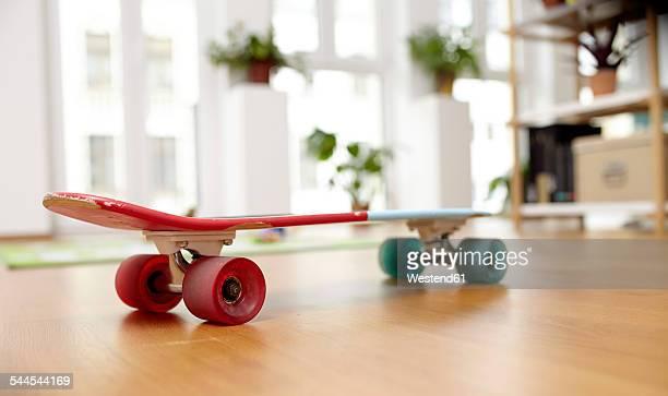 Skateboard on floor