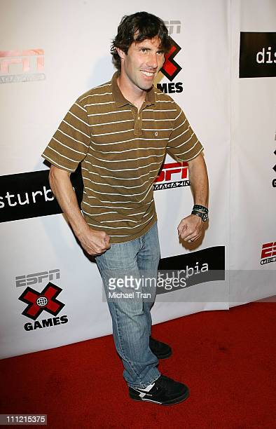 Skateboarder Andy Macdonald arrives at the Disturbia DVD release party at The Standard Hotel on August 2 2007 in Los Angeles California