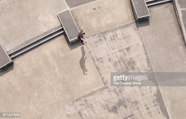 Skateboarder at Skatepark