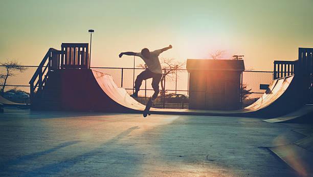 Skateboarder Jumping. Wall Art