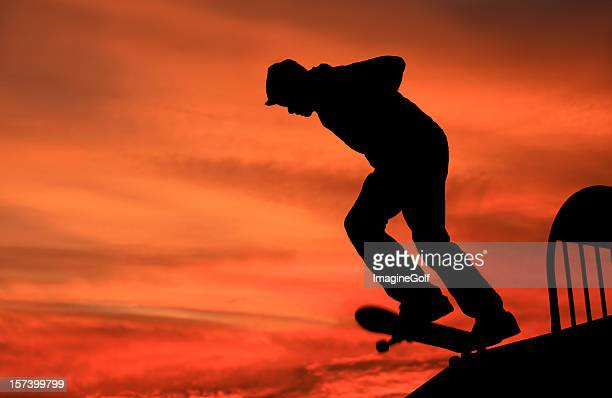skateboarder - half pipe stock pictures, royalty-free photos & images