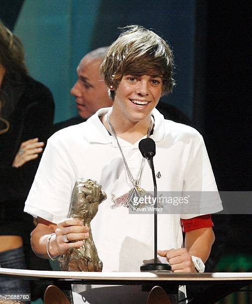 Skateboarder Ryan Sheckler wins Rider of the Year at Arby's Action Sports Awards at Center Stage on November 30 2006 in Burbank California