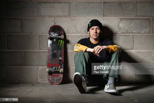Skateboarder Sam Beckett who is set to compete at the 2020 Tokyo Olympics is photographed for the Telegraph on March 14 2019 in Manchester England