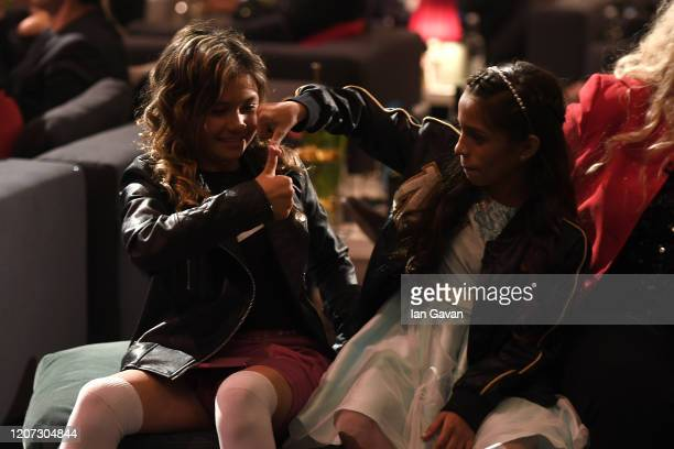 Skateboarder Sky Brown and Laureus World Action Sportsperson of the Year nominee Rayssa Leal during the 2020 Laureus World Sports Awards at Verti...