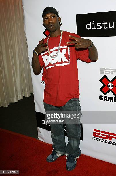 Skateboarder Stevie Williams arrives at the Disturbia DVD release party at The Standard Hotel on August 2 2007 in Los Angeles California