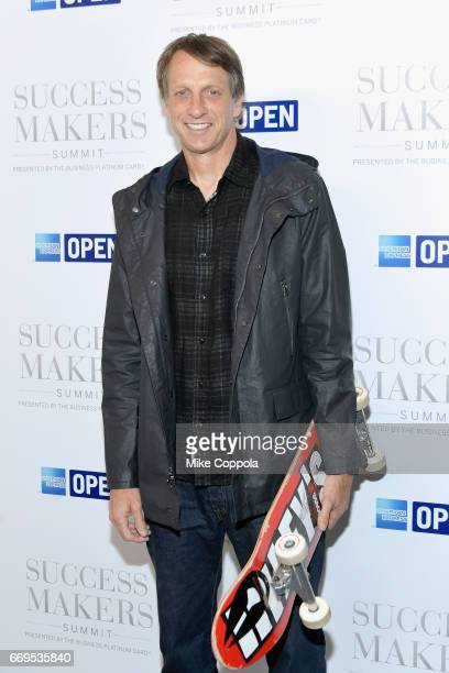 Skateboarder Tony Hawk attends the 2017 Success Makers Summit at Spring Place on April 17 2017 in New York City