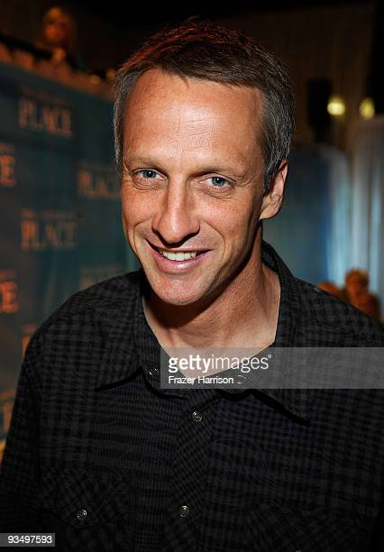 Skateboarder Tony Hawk attends the Children's Place backstage at Nickelodeon's 2009 Kids' Choice Awards at UCLA's Pauley Pavilion on March 28 2009 in...