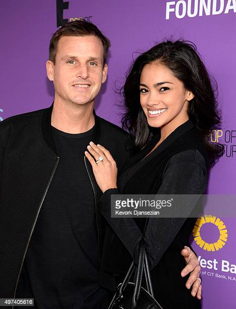 Skateboarders Rob Dyrdek and Bryiana Noelle Flores attend Express Yourself 2015 to benefit PS ARTS providing arts education to 25000 public school...