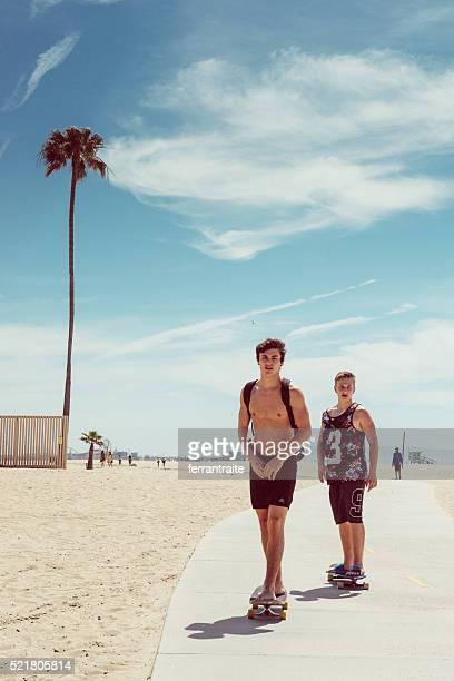 Skateboarden in Santa Monica