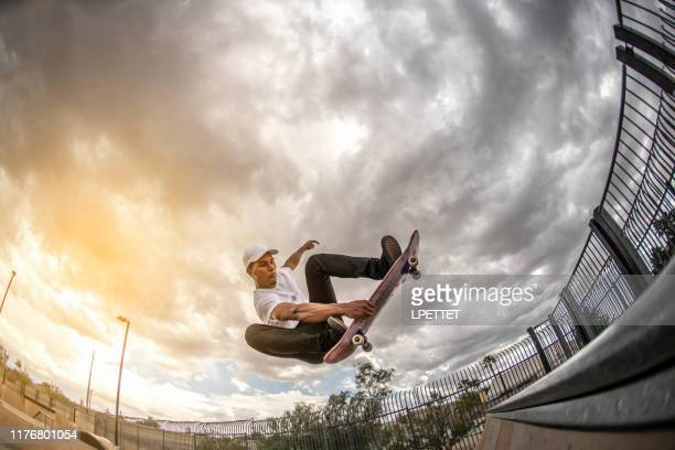 skateboarding - half pipe stock pictures, royalty-free photos & images