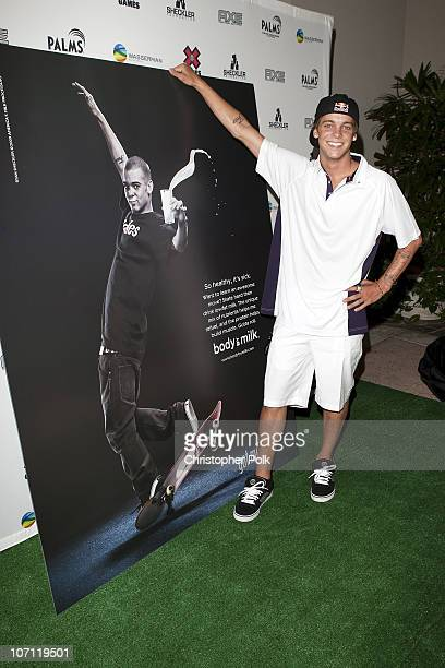 Skateboarding superstar Ryan Sheckler unveiled his Body By Milk Milk Mustache ad today at the X Games Celebrity Skins Classic at the Coto De Caza...