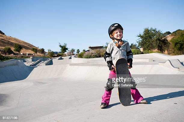 skatepark girl - padding stock photos and pictures