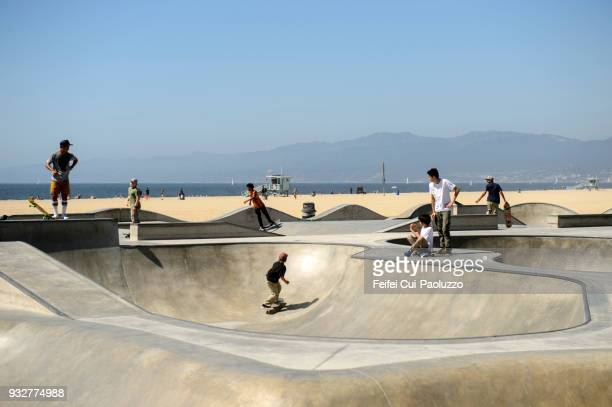 Skatepark of Venice Beach in California State, USA