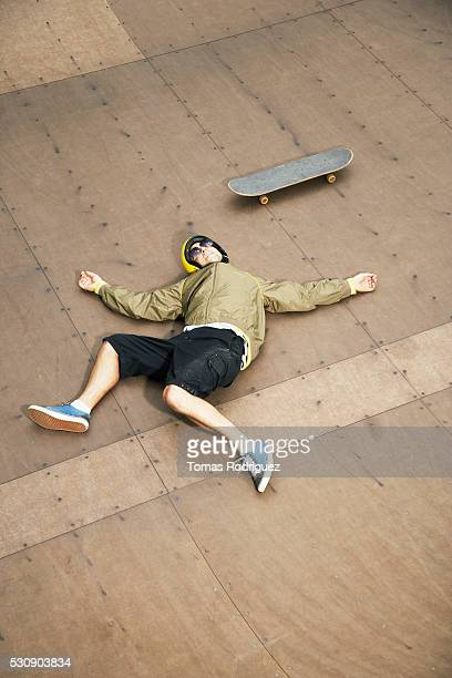 Skater after crashing