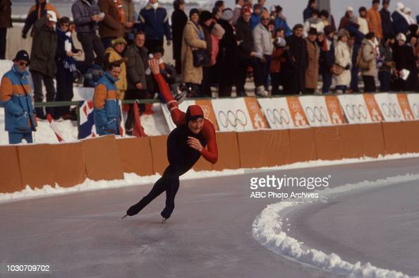 Skater competing in the Women's speed skating event at the ...