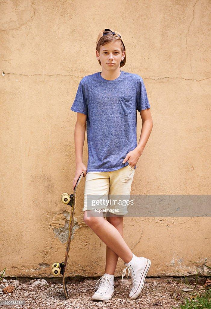 Skater-Typ : Stock-Foto