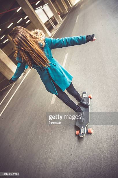 Skater girl on the move