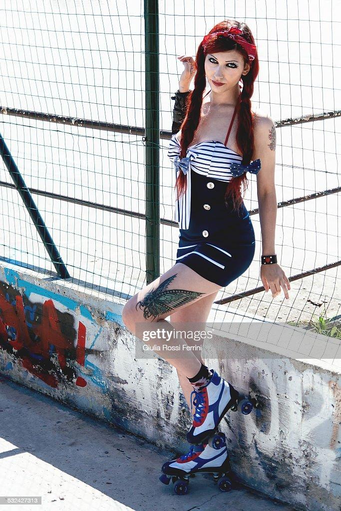 Skater Girl Stock Photo   Getty Images