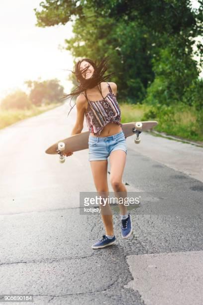 Skater in a road