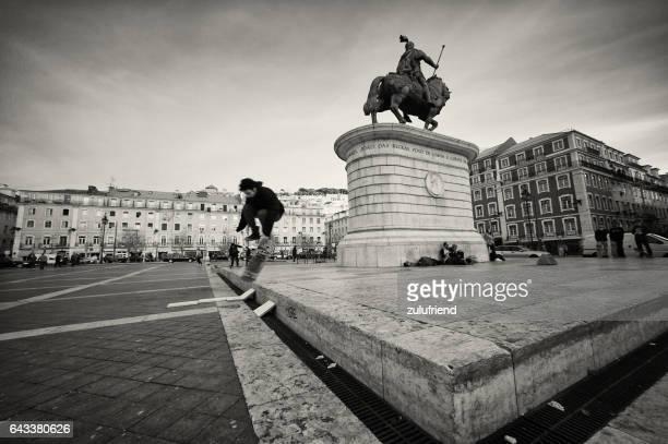 のスケートセカテドラル  - フォゲイラ広場 ストックフォトと画像