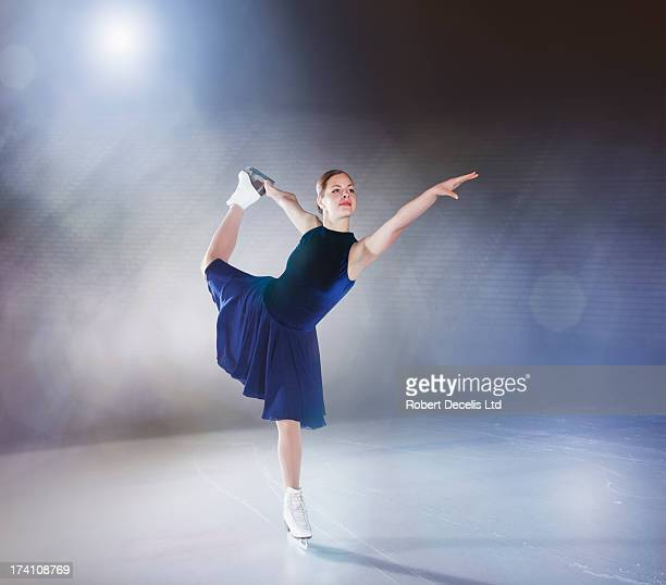 skater performing routine. - figure skating ストックフォトと画像