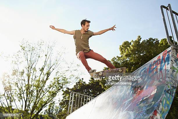 skater - half pipe stock pictures, royalty-free photos & images