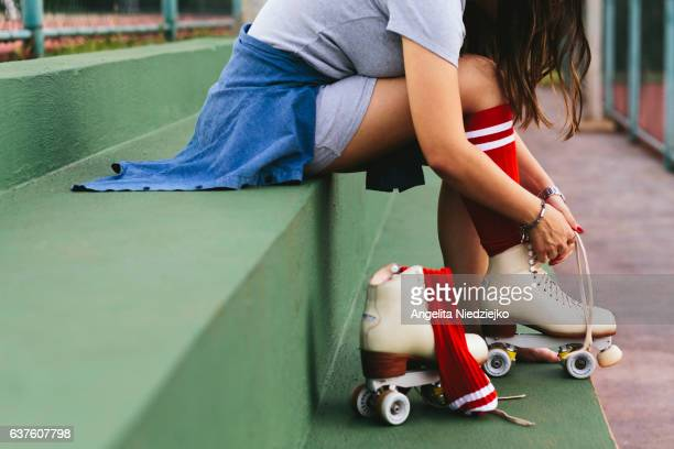 skater - roller skating stock photos and pictures