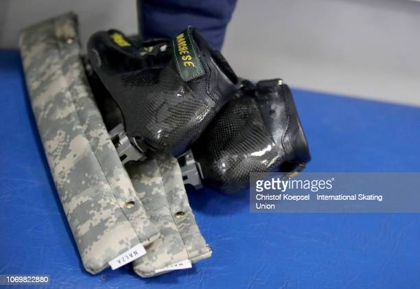 Skater shoes during the ISU Short Track World Cup Day 1 at Halyk Arena on December 8 2018 in Almaty Kazakhstan Photo by Christof Koepsel...