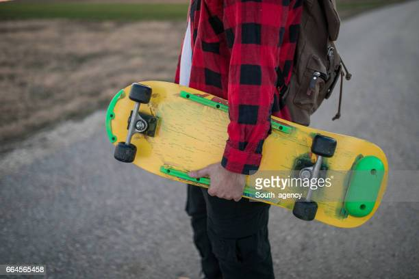 Skater with a skateboard