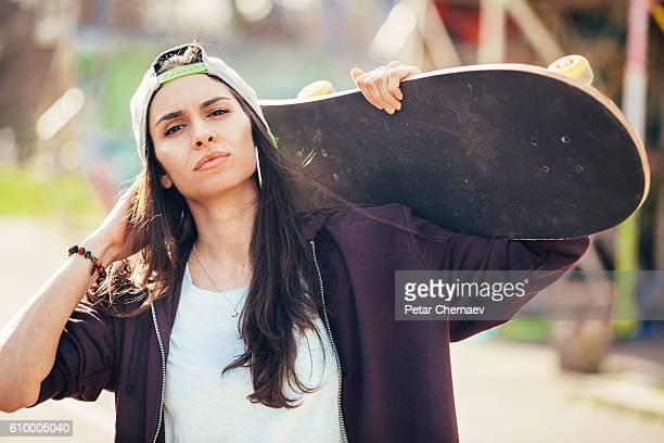 Skater with attitude