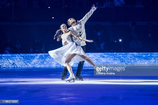 Skaters Anna Cappellini and Luca Lanotte performs in Revolution on Ice at Coliseum A Coruña on December 21 2019 in A Coruna Spain