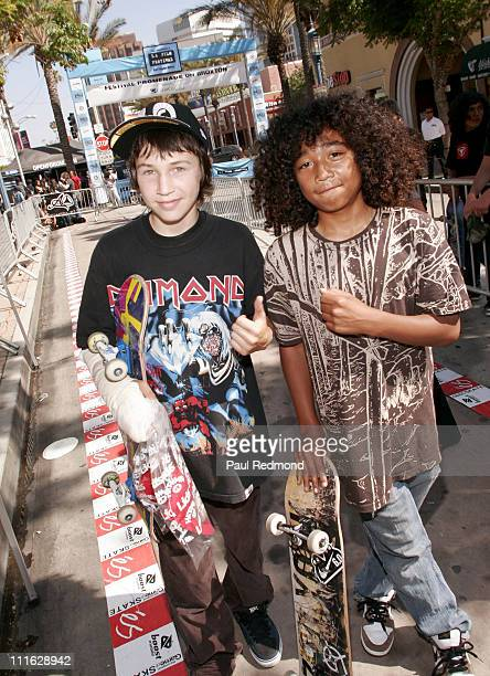 Skaters during 2007 Los Angeles Film Festival Skateboard Tournament at Festival Promanade On Broxton in Westwood Village California United States