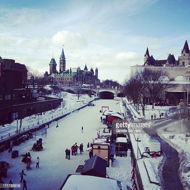 Skaters on the Rideau Canal in Ottawa
