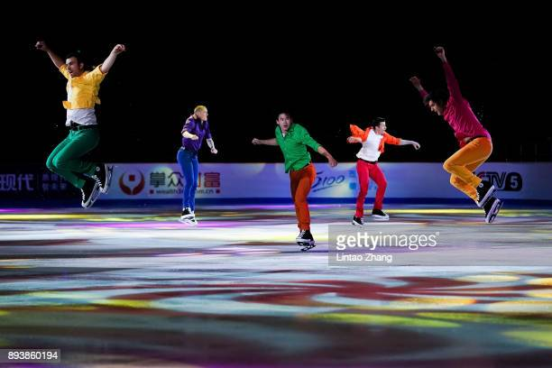 Skaters perform during the Stars On Ice 2017 China Tour at Beijing Capital Gymnasium on December 16 2017 in Beijing China