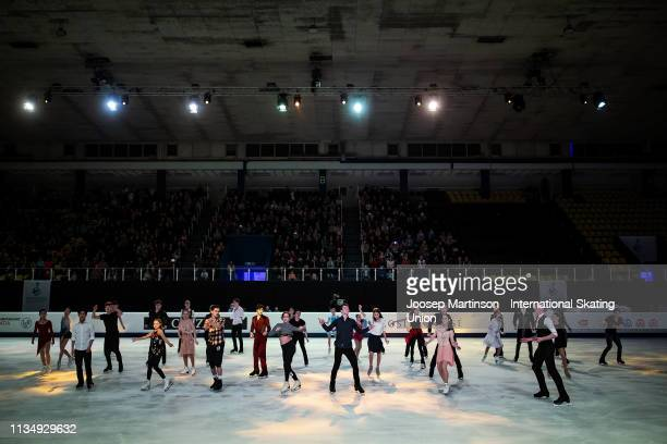 Skaters perform in the Gala Exhibition during day 5 of the ISU World Junior Figure Skating Championships Zagreb at Dom Sportova on March 10, 2019 in...