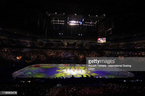 Skaters perform in the opening ceremony during day 1 of the ISU World Figure Skating Championships 2019 at Saitama Super Arena on March 20 2019 in...