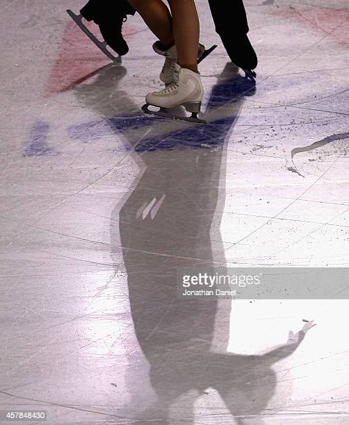 Skaters shadows are seen on the ice during the 2014 Hilton HHonors Skate America competition at the Sears Centre Arena on October 25 2014 in Hoffman...